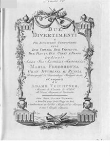 Два дивертисмента для духовых и струнных: Партии by Franz Adam Veichtner