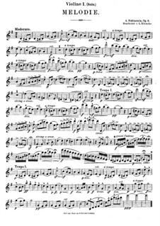 Две мелодии, Op.3: Мелодия No.1, для струнного квинтета by Антон Рубинштейн