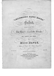 Childhood's Happy Hour: Childhood's Happy Hour by Miss Davis