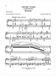 Salon-Kompositionen, Op.327: No.3 Silver Stars by Карл Бём