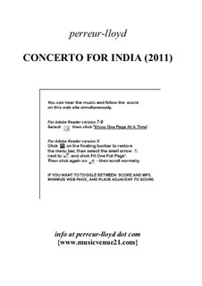 Concerto for India (2011), Op.11: Concerto for India (2011) by Keith Perreur-Lloyd