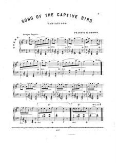 Song of the Captive Bird: Song of the Captive Bird by Фрэнсис Генри Браун