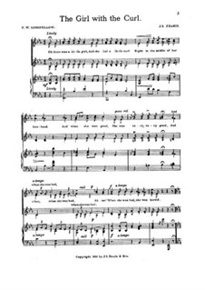 The Girl with the Curl for Voices and Piano: The Girl with the Curl for Voices and Piano by John Sylvester Fearis