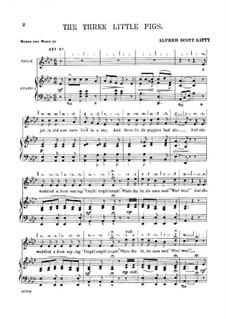 The Three Little Pigs: Для голоса и фортепиано by Alfred Scott Gatty