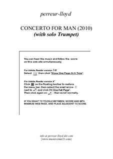 Concerto for Man (2010): Concerto for Man (2010) by Keith Perreur-Lloyd
