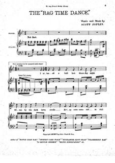 Танец в стиле рэгтайм: Для голоса и фортепиано by Скотт Джоплин