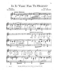 Is is Very Far to Heaven: Для голоса и фортепиано by Julian Dowling
