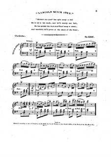 Lincoln Quick Step, Op.1209: Lincoln Quick Step by Чарлз Гроуб