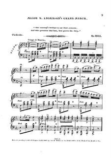 Major R. Anderson's Grand March, Op.1312: Major R. Anderson's Grand March by Чарлз Гроуб