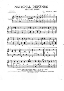 National Defense: Для фортепиано by Jens Bodewalt Lampe