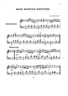 Mount Mansfield. Schottisch for Piano: Mount Mansfield. Schottisch for Piano by Frank J. Hall