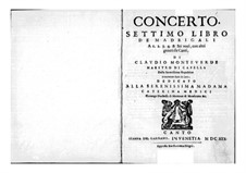 Book 7 (Concerto), SV 117–145: Parts by Клаудио Монтеверди