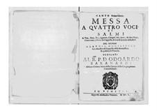 Messa a quattro voci et salmi, SV 190–204: Messa a quattro voci et salmi by Клаудио Монтеверди