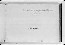 Athalie. Intermèdes en musique: Партитура (Manuscript) by Jean-Baptiste Moreau