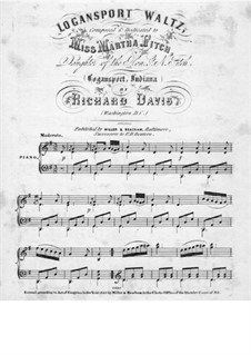 Logansport Waltz for Piano: Logansport Waltz for Piano by Richard Davis