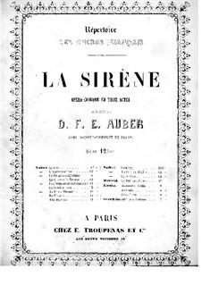 Сирена: Клавир с вокальной партией by Даниэль Обер