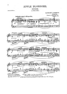 Apple Blossoms. Reverie for Piano: Apple Blossoms. Reverie for Piano by Kathleen A. Roberts
