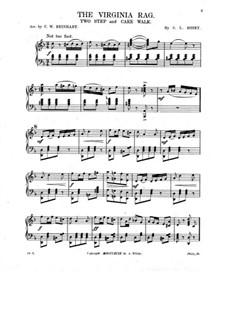 The Virginia Rag. Two-Step and Cake Walk for Piano: The Virginia Rag. Two-Step and Cake Walk for Piano by S. L. Rosey