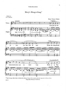 Mary's Manger-Song: Mary's Manger-Song by Mary Turner Salter
