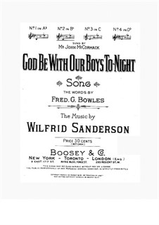 God Be with Our Boys to-night: Си-бемоль мажор by Wilfrid Sanderson