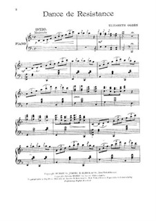 Dance de resistance, for Piano: Dance de resistance, for Piano by Elizabeth Ogden