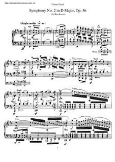 Симфония No.2, Op.36: Версия для фортепиано Ф. Листа by Людвиг ван Бетховен