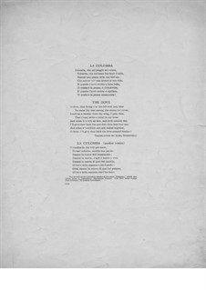 La Colomba (The Dove): Для голоса и фортепиано by folklore