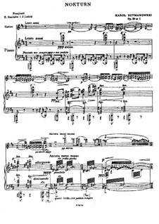 Ноктюрн и Тарантелла, Op.28: Ноктюрн и Тарантелла by Кароль Шимановский
