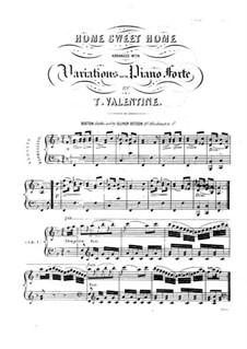 Home, Sweet Home: Для фортепиано by folklore