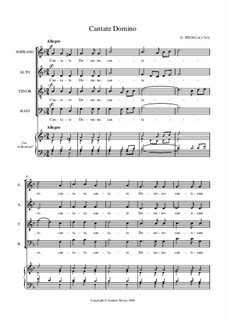 Cantate Domino: Вокальная партитура by Джузеппе Питони