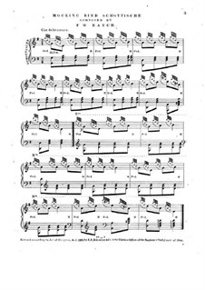 Mocking Bird Schottische, for Piano: Mocking Bird Schottische, for Piano by F. W. Rauch