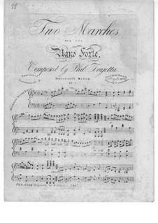 Два марша для фортепиано: Два марша для фортепиано by Philip Trajetta