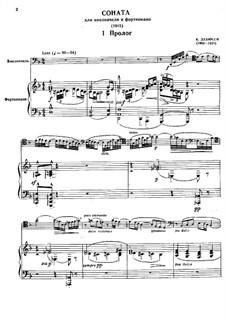 Соната для виолончели и фортепиано ре минор, L.135: Партитура by Клод Дебюсси