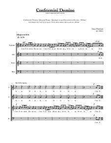 Confitemini Domino: Confitemini Domino by Vince Peterson