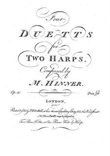 Четыре дуэта для двух арф, Op.10: Первая партия by Филипп Жозеф Хиннер