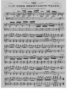 New York Serenading Waltz: Для фортепиано by Charles Gilfert