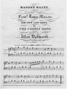 Mason's Waltz: Mason's Waltz by Unknown (works before 1850)