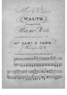 New Orleans Waltz: Для фортепиано by Unknown (works before 1850)
