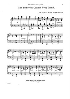 Princeton Cannon. Song March: Princeton Cannon. Song March by A. H. Osborn, J. F. Hewitt