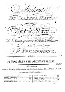 Andante on a Theme by Haydn: Transcription for harp and violin accompaniment by Иоганн Баптист Крумпхольц