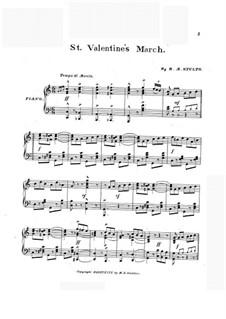 St. Valentine's March: St. Valentine's March by Robert Morrison Stults
