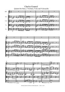 Квинтет для валторны и струнных инструментов: Партитура by Шарль Гуно