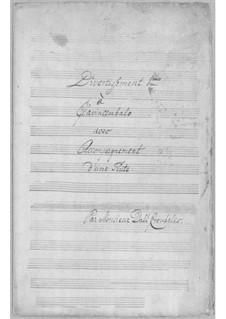 Дивертисмент для флейты и клавесина No.1: Дивертисмент для флейты и клавесина No.1 by Симони дель Крубелис