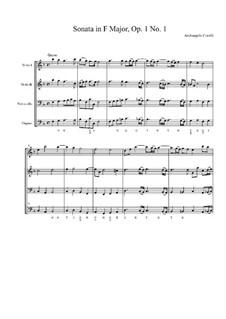 Двенадцать трио-сонат 'da chiesa' для двух скрипок и бассо континуо, Op.1: Соната No.1 by Арканджело Корелли