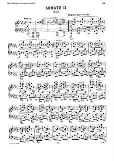 Соната для фортепиано No.2 си-бемоль минор, Op.35: Для одного исполнителя by Фредерик Шопен