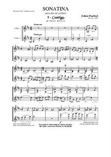 Sonatina, for 2 violins (2001): Sonatina, for 2 violins (2001) by Zoltan Paulinyi