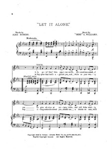 Let it Alone: Let it Alone by Bert Williams