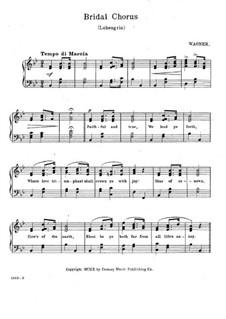 Свадебный хор: Для фортепиано (с текстом) by Рихард Вагнер