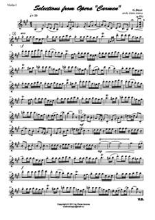 Избранные темы: Для струнного квартета by Жорж Бизе