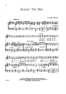 Buzzin' the Bee: Клавир с вокальной партией by Jack Wells